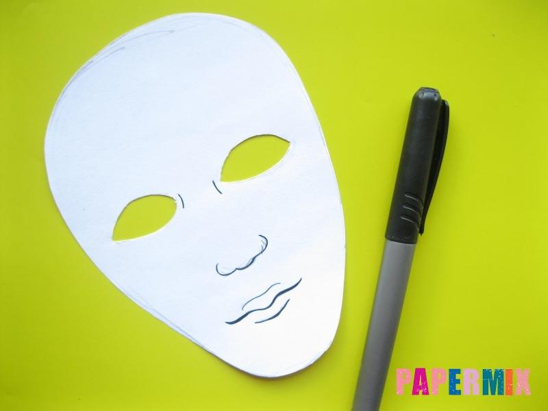 Как сделать маску мумии из бумаги на хэллоуин своими руками - шаг 5