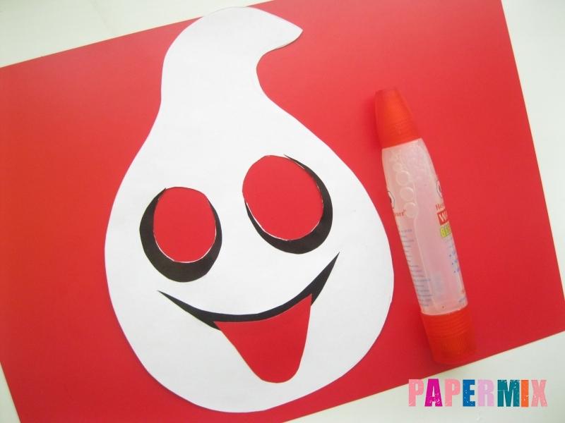 Как сделать маску привидения на хэллоуин из бумаги - шаг 6