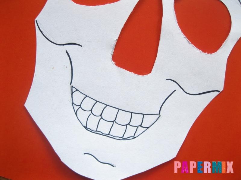 Как сделать маску скелета на хэллоуин из бумаги своими руками - шаг 7