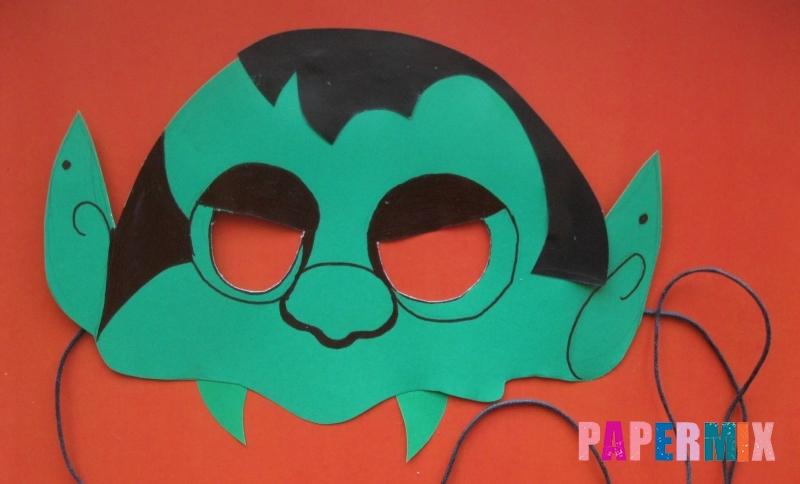 Как сделать маску в виде вампира на хэллоуин из бумаги своими руками