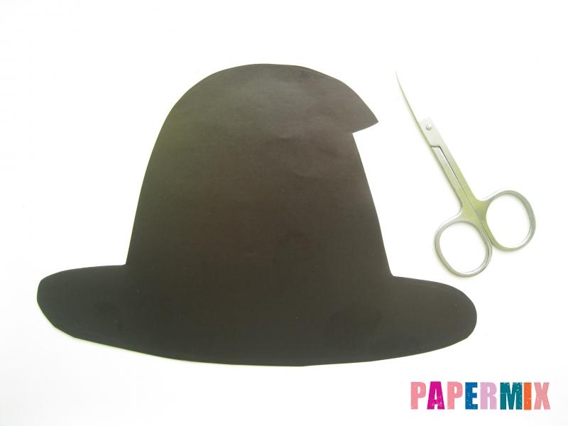 Как сделать маску ведьмы на хэллоуин из бумаги своими руками - шаг 5