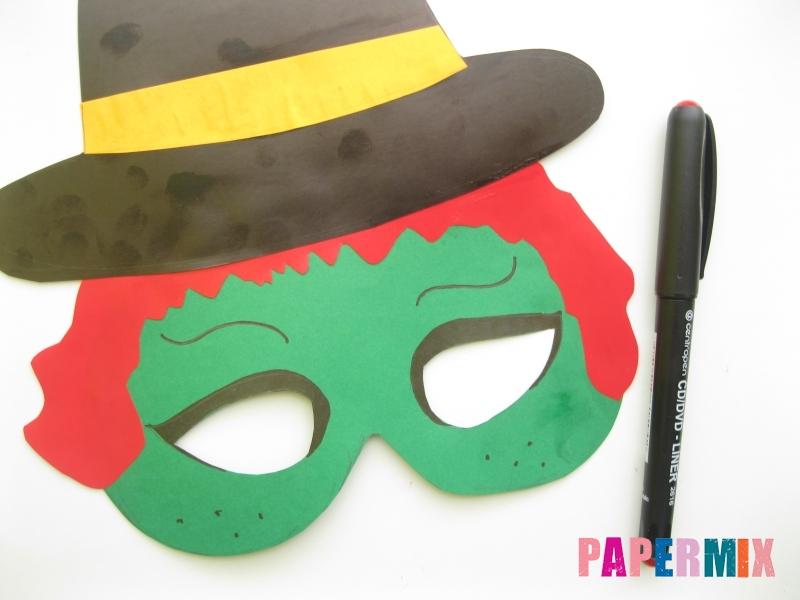 Как сделать маску ведьмы на хэллоуин из бумаги своими руками - шаг 9