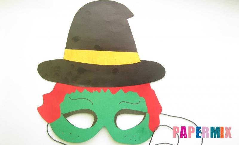 Как сделать маску ведьмы на хэллоуин из бумаги своими руками поэтапно
