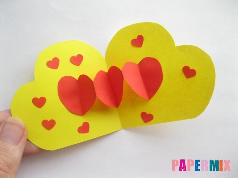 Как сделать объемную валентинку из бумаги своими руками - шаг 9