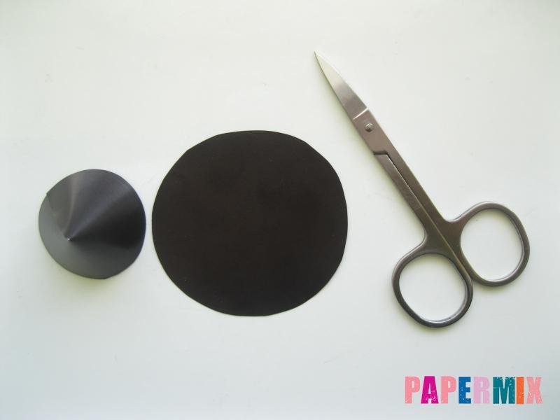 Как сделать шляпу ведьмы из бумаги на хэллоуин - шаг 4
