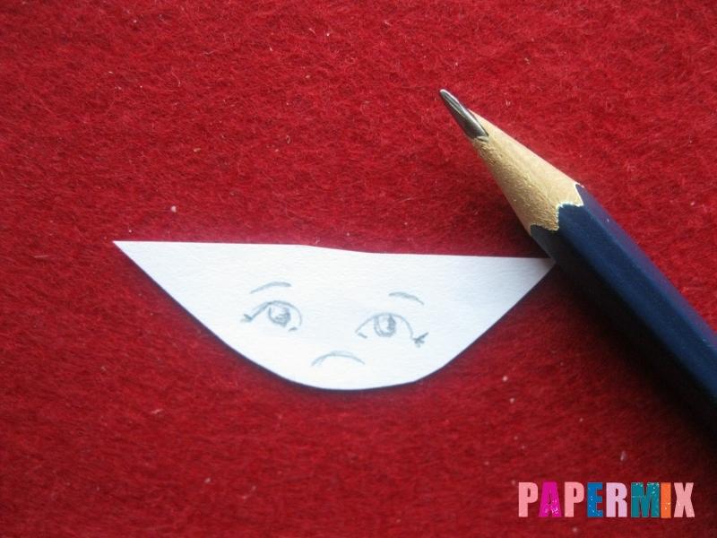 Конверт в виде Снегурочки из бумаги своими руками - шаг 15