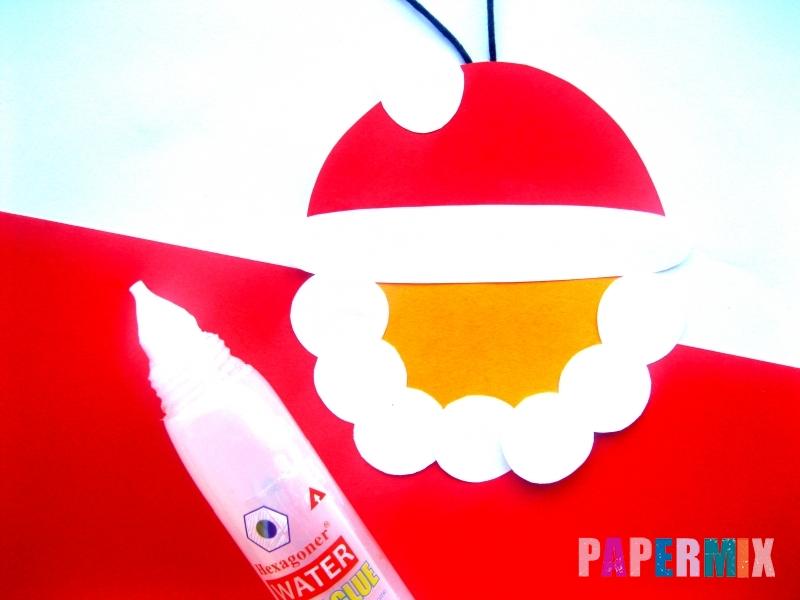 Новогодняя игрушка Дед Мороз из бумаги своими руками - шаг 6