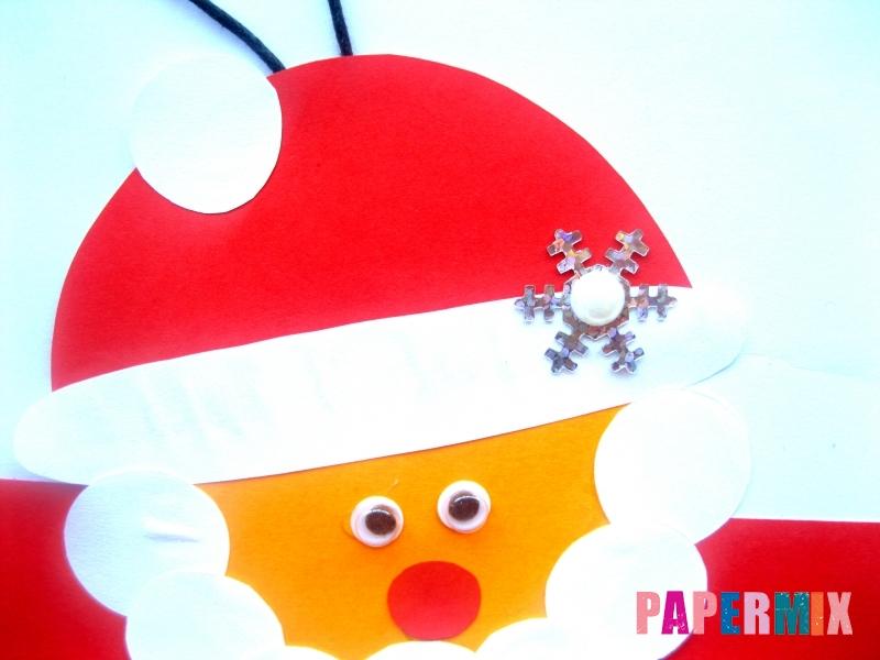 Новогодняя игрушка Дед Мороз из бумаги своими руками - шаг 8