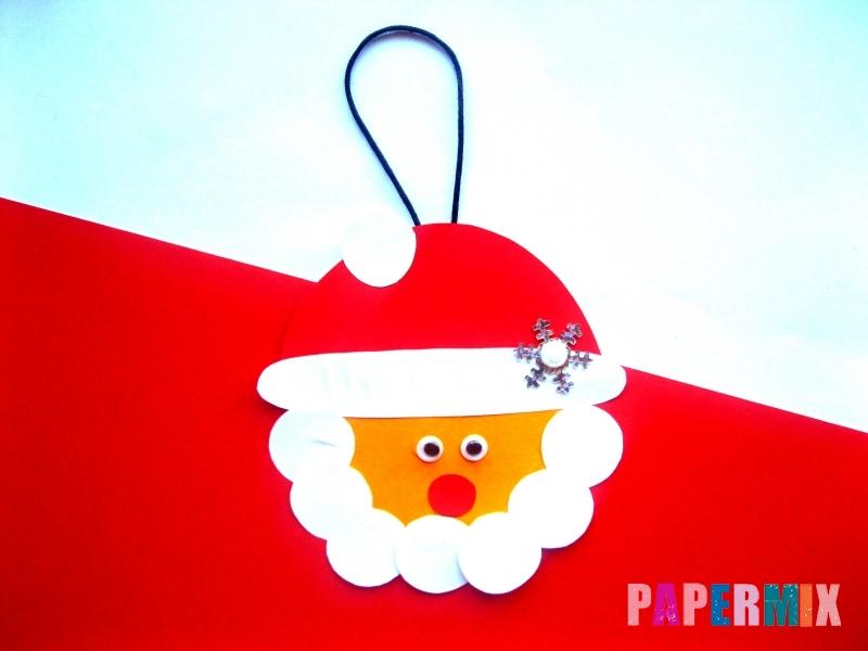 Новогодняя игрушка Дед Мороз из бумаги своими руками - шаг 9
