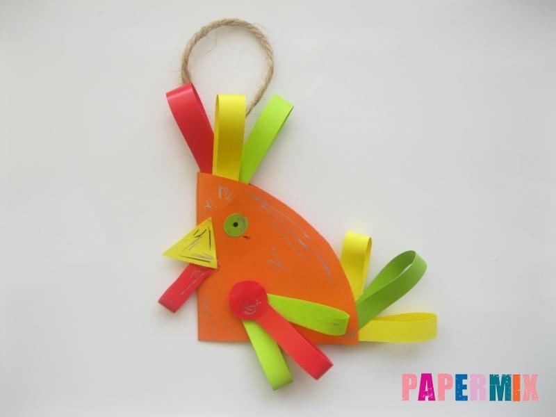 Новогодняя игрушка петух из бумаги своими руками - шаг 13
