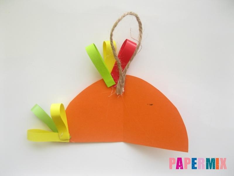 Новогодняя игрушка петух из бумаги своими руками - шаг 7