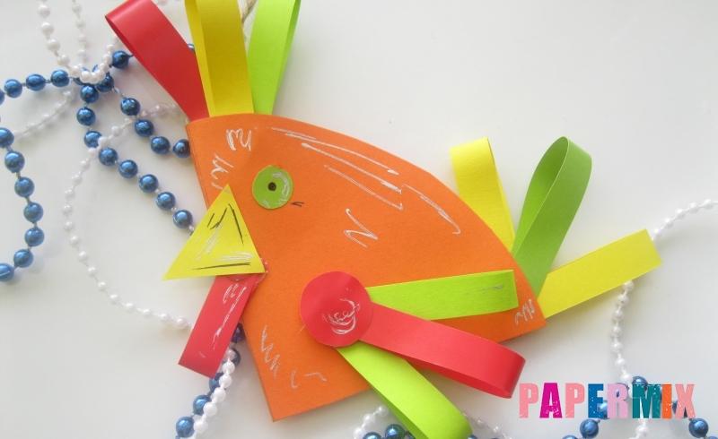 Как сделать елочную игрушку в виде петуха из бумаги своими руками