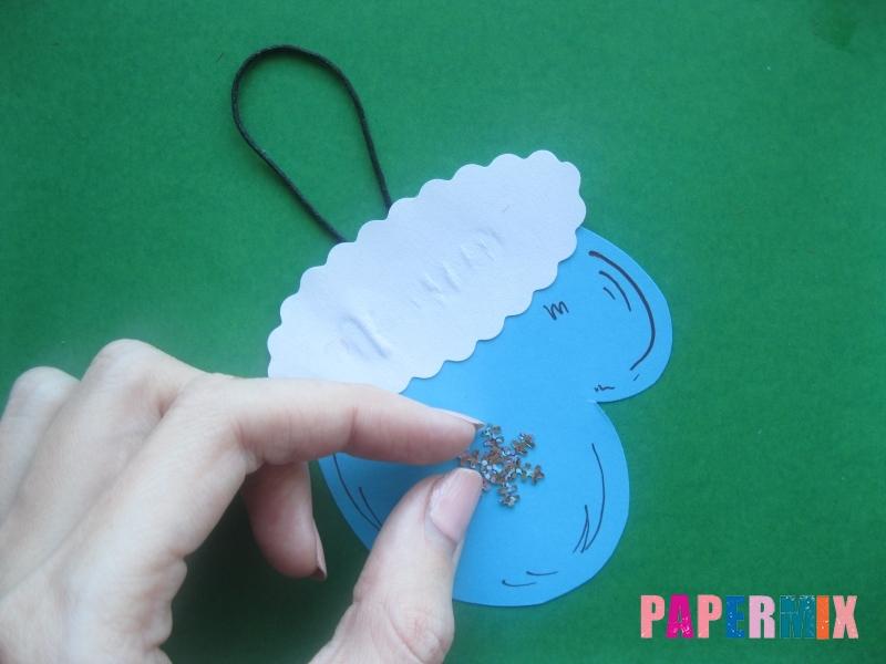 Новогодняя рукавичка из бумаги своими руками поэтапно - шаг 8