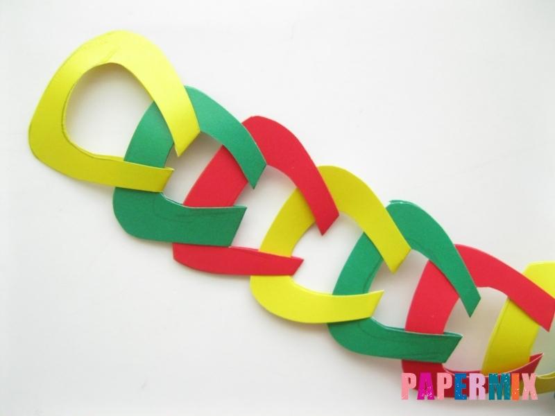 Новогодняя гирлянда из разноцветных звеньев своими руками - шаг 11