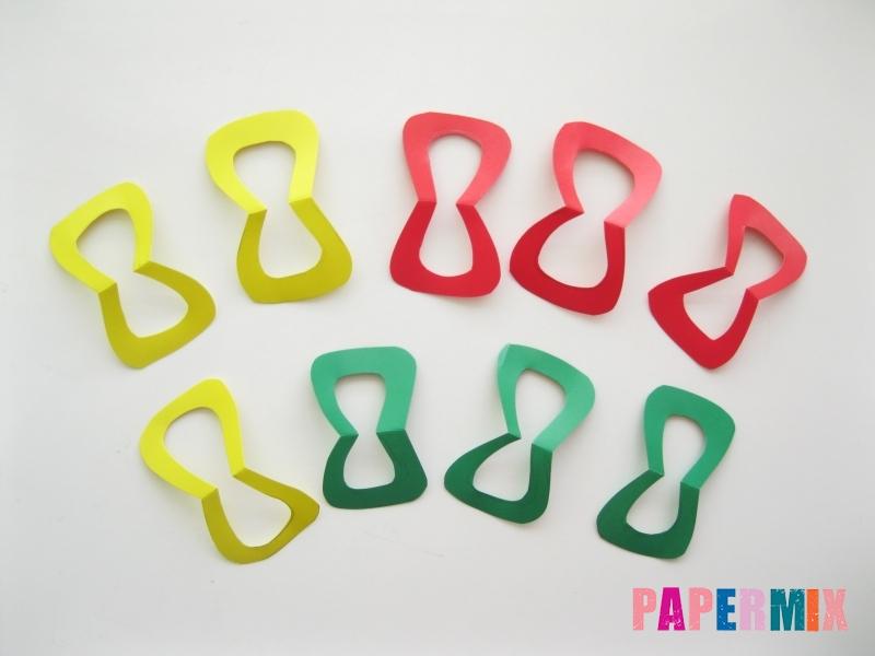 Новогодняя гирлянда из разноцветных звеньев своими руками - шаг 5