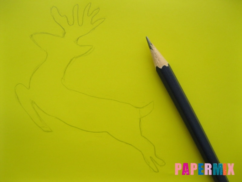 Новогодняя гирлянда в форме оленей из бумаги своими руками - шаг 1