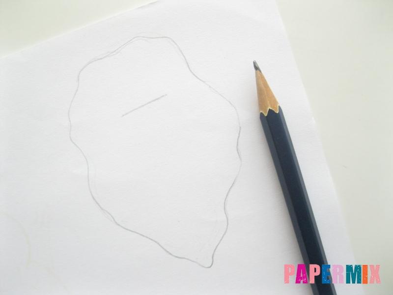 Объемный дед мороз из бумаги своими руками - шаг 3