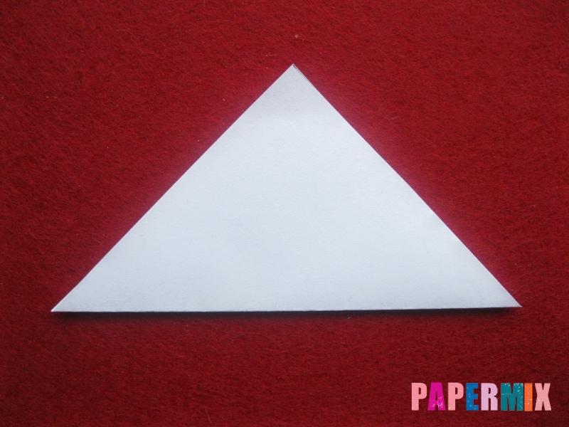 Оригами снеговик из бумаги своими руками - шаг 1