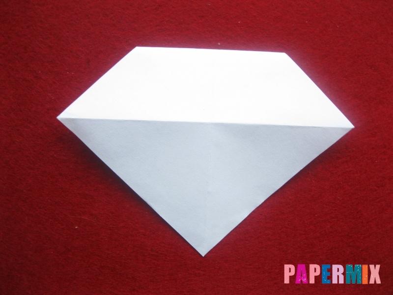 Оригами снеговик из бумаги своими руками - шаг 10