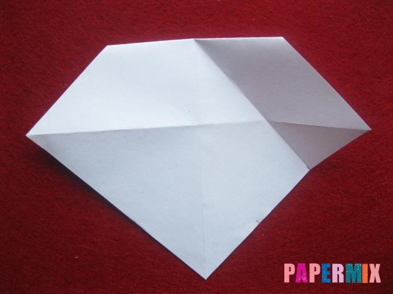 Оригами снеговик из бумаги своими руками - шаг 11