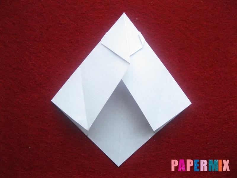 Оригами снеговик из бумаги своими руками - шаг 13