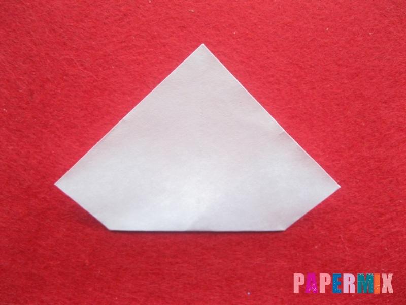 Оригами снеговик из бумаги своими руками - шаг 15
