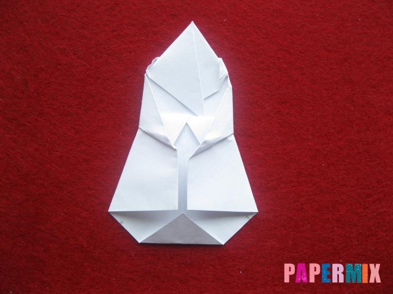 Оригами снеговик из бумаги своими руками - шаг 21