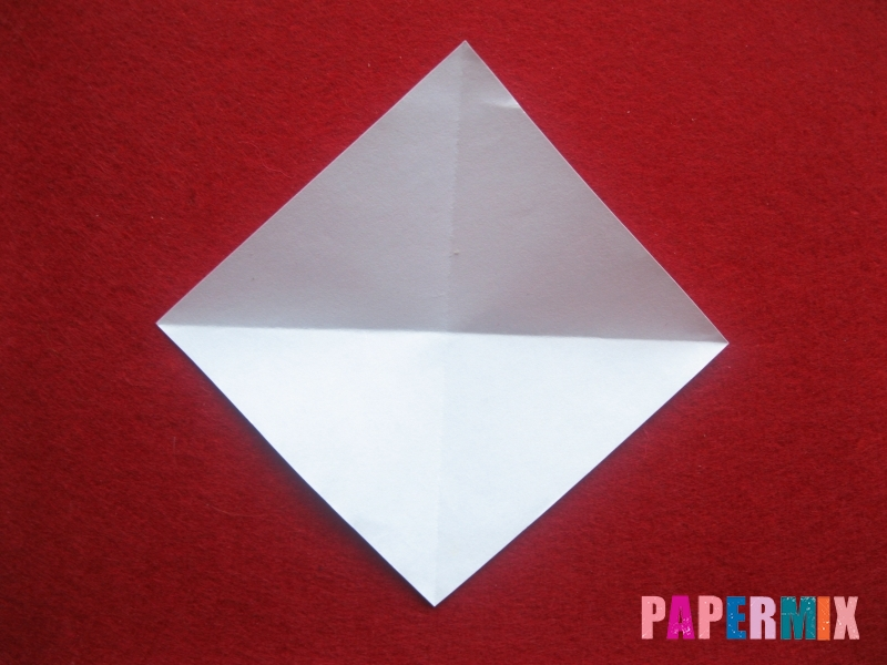 Оригами снеговик из бумаги своими руками - шаг 3
