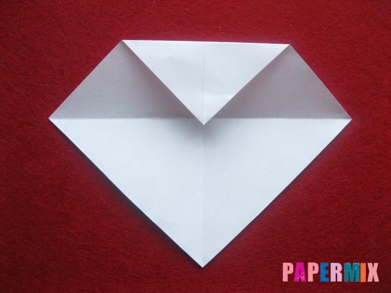 Оригами снеговик из бумаги своими руками - шаг 4