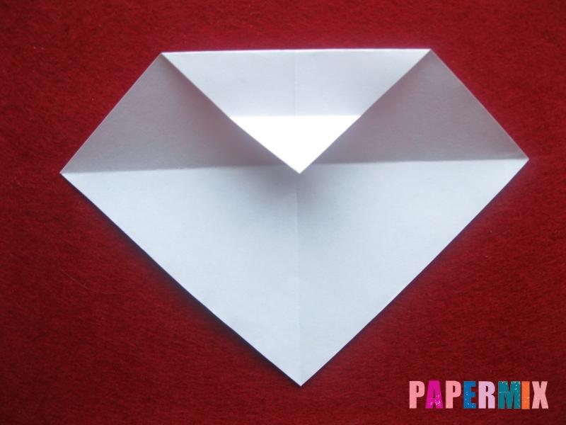 Оригами снеговик из бумаги своими руками - шаг 6