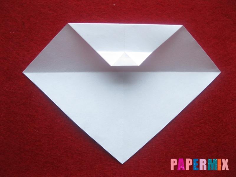 Оригами снеговик из бумаги своими руками - шаг 7
