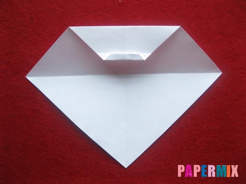 Оригами снеговик из бумаги своими руками - шаг 8
