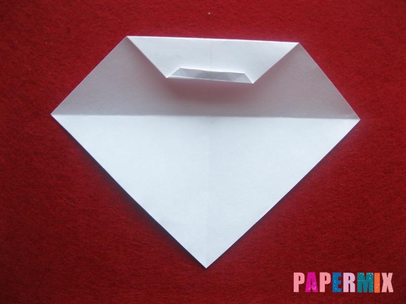 Оригами снеговик из бумаги своими руками - шаг 9