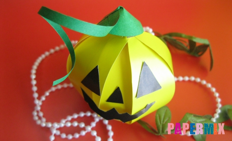 Как сделать объемную тыкву из бумаги на Хэллоуин своими руками