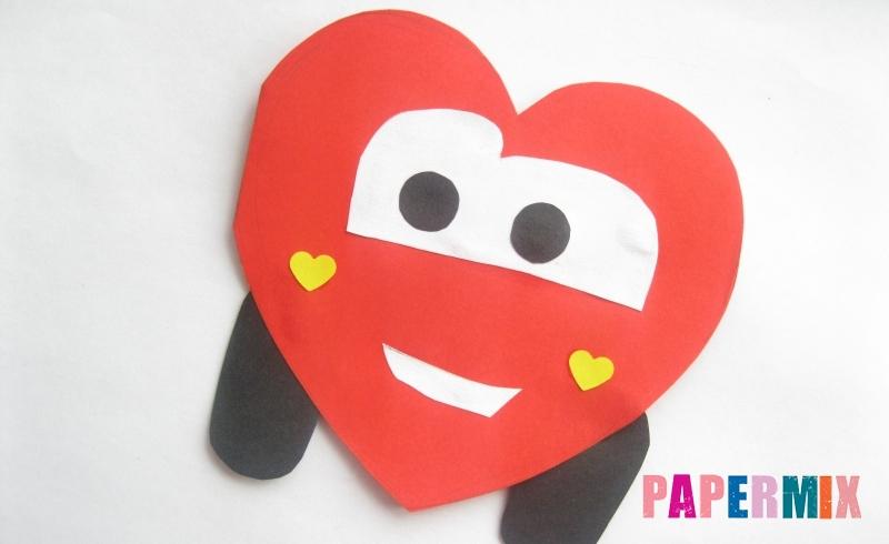Как сделать валентинку в виде машины из бумаги ко дню святого Валентина