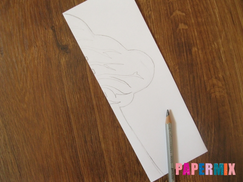 Береза из бумаги (симметричная аппликация) своими руками - шаг 4