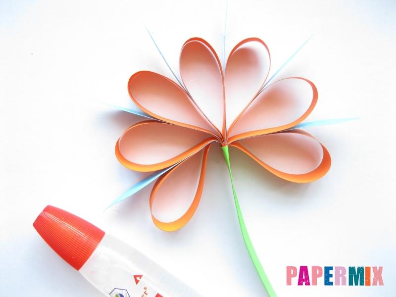 Как легко сделать хризантему из бумаги поэтапно - шаг 10