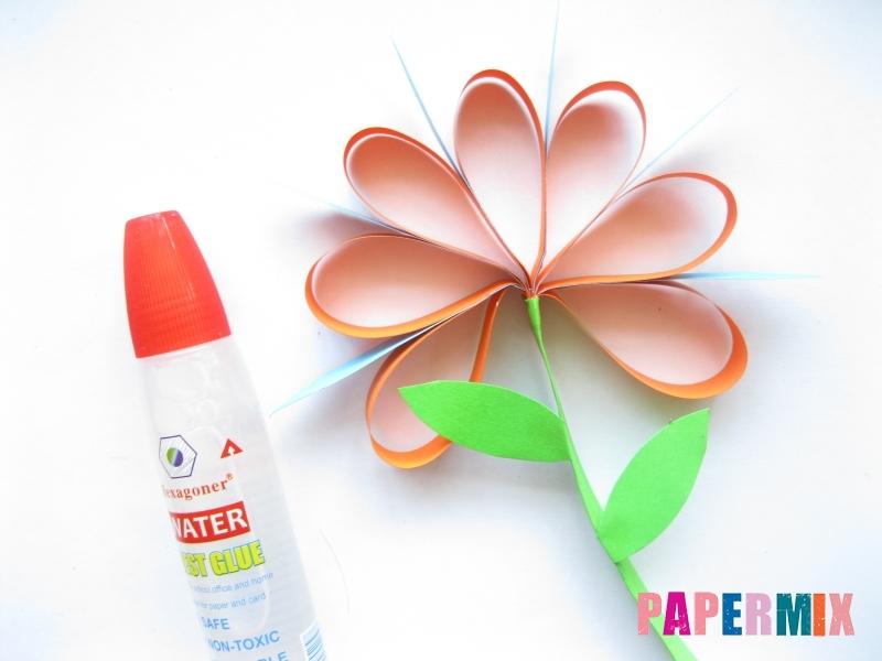 Как легко сделать хризантему из бумаги поэтапно - шаг 12
