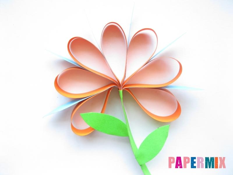 Как легко сделать хризантему из бумаги поэтапно - шаг 13