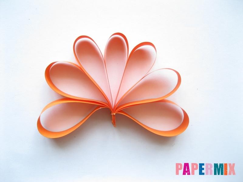 Как легко сделать хризантему из бумаги поэтапно - шаг 3