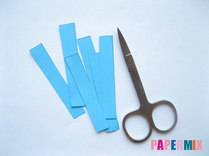 Как легко сделать хризантему из бумаги поэтапно - шаг 5