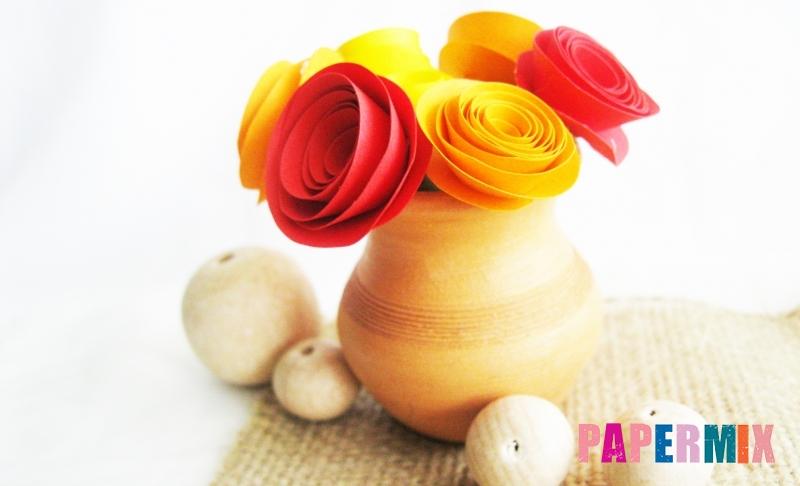 Как сделать красивый букет роз из цветной бумаги своими руками поэтапно