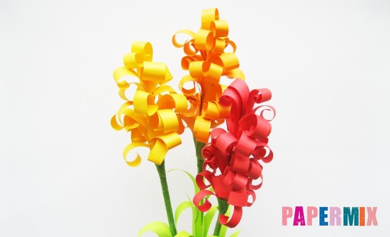 Как сделать цветы гиацинты из цветной бумаги своими руками