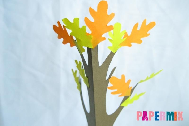 Как сделать дуб из бумаги своими руками поэтапно