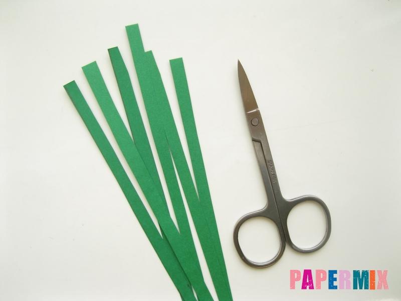 Как сделать фиалки из бумаги поэтапно - шаг 2