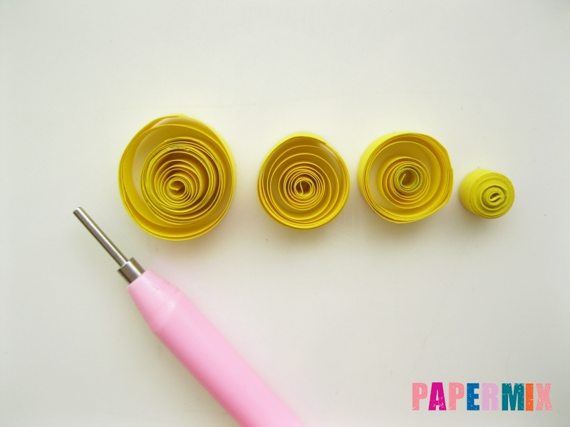 Как сделать фиалки из бумаги поэтапно - шаг 8