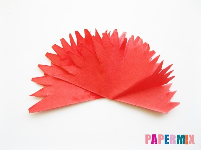 Как сделать гвоздику из цветной бумаги поэтапно - шаг 10