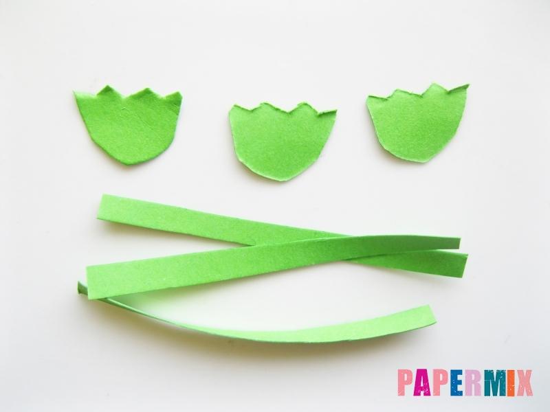 Как сделать гвоздику из цветной бумаги поэтапно - шаг 11