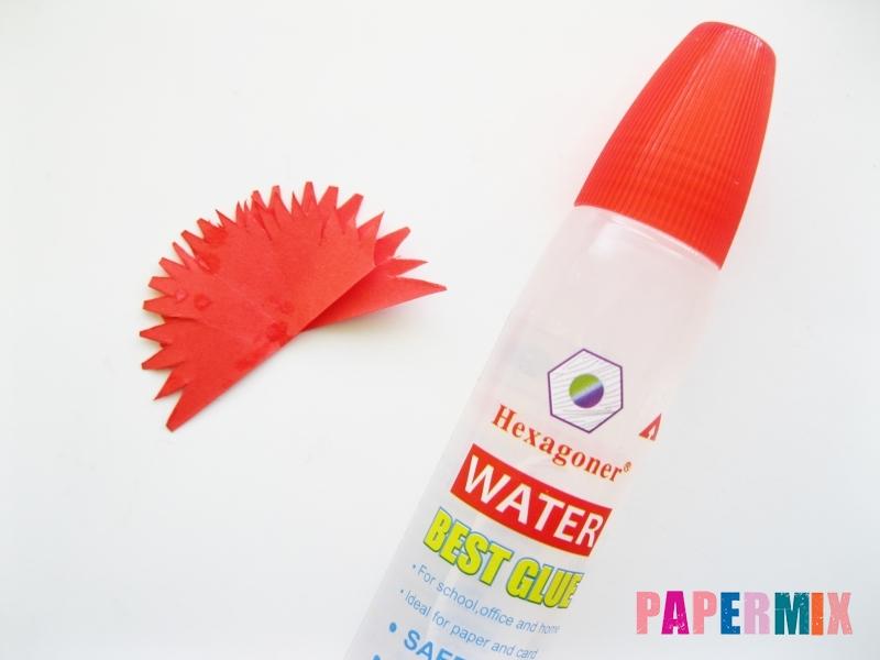 Как сделать гвоздику из цветной бумаги поэтапно - шаг 9
