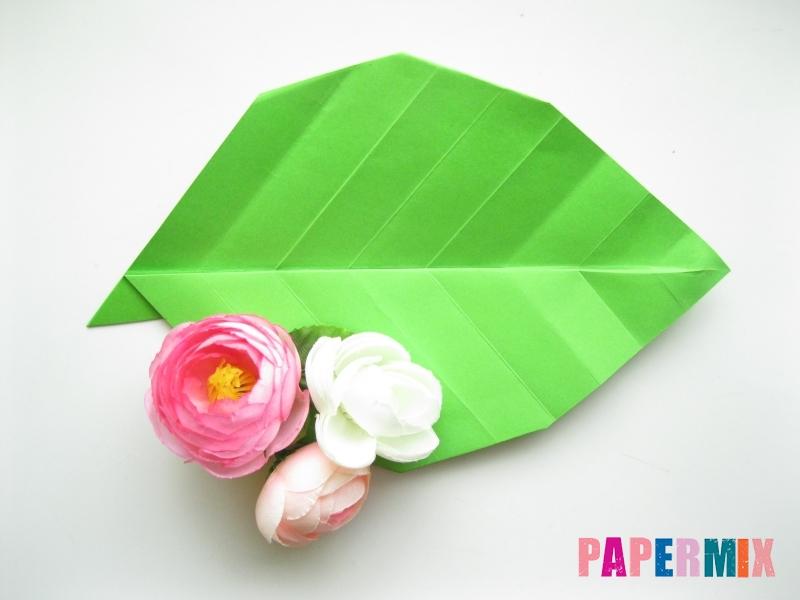Как сделать листья из бумаги своими руками - шаг 14